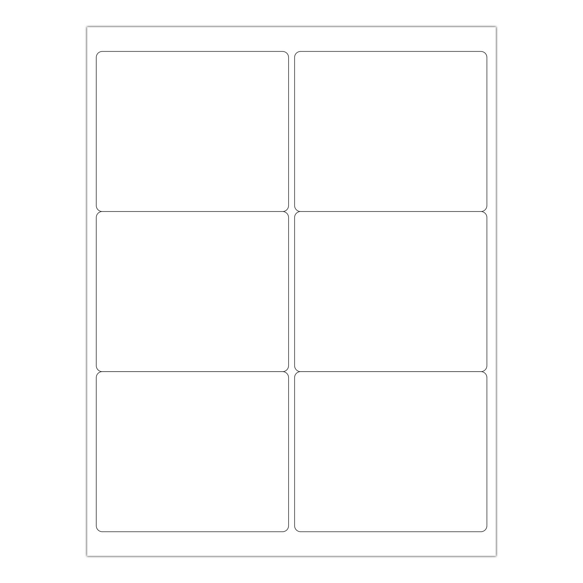 ChromaLabel 3-1/3 x 4 Inch Printable Labels, Compatible with Laser and Inkjet Printers, 150 Pack, 25 Sheets, White