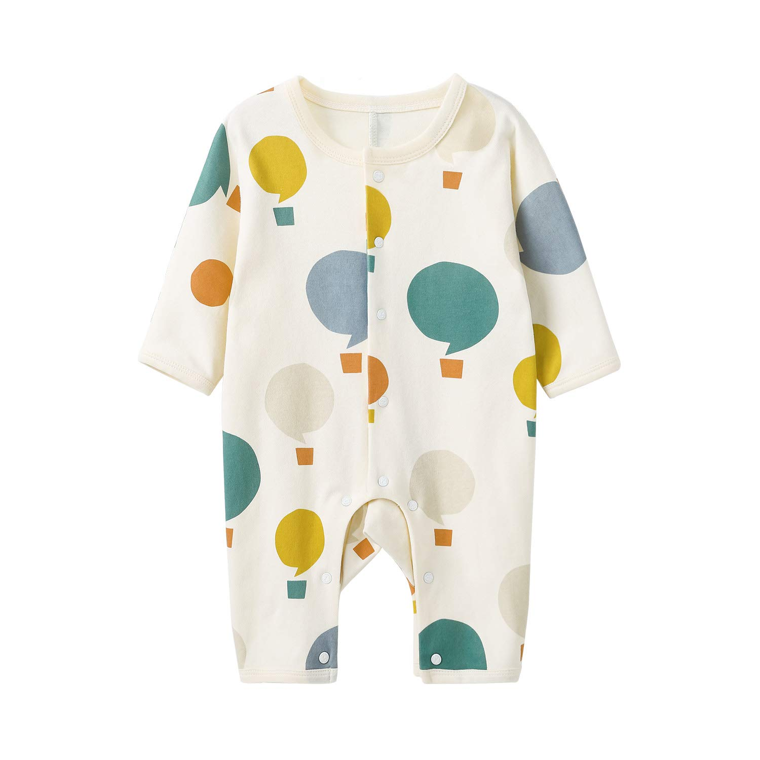 pureborn Baby Boy Romper Jumpsuit Long Sleeve Cotton One-Piece Coveralls