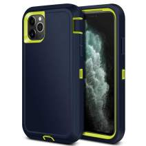 Jiunai iPhone 11 Pro Case, Tough Heavy Duty Outdoor Sports Drop Protection Shockproof Anti Scratch Dual Layer Soft TPU Armor Strong Rugged Cover Matte Case ONLY for iPhone 11 Pro 5.8 inches 2019 Blue