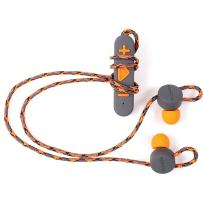 BOOMPODS Retrobuds in-Ear Headphones - Best Wireless Bluetooth Workout Custom Fit Earbuds, Perfect for Running, Jogging, Exercise, and for Listening for Your Commute, Ice Blue (Grey/Orange)
