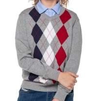 Benito & Benita Boys' Pullover Sweater Uniforms With Argyle Patterns 3-12Y