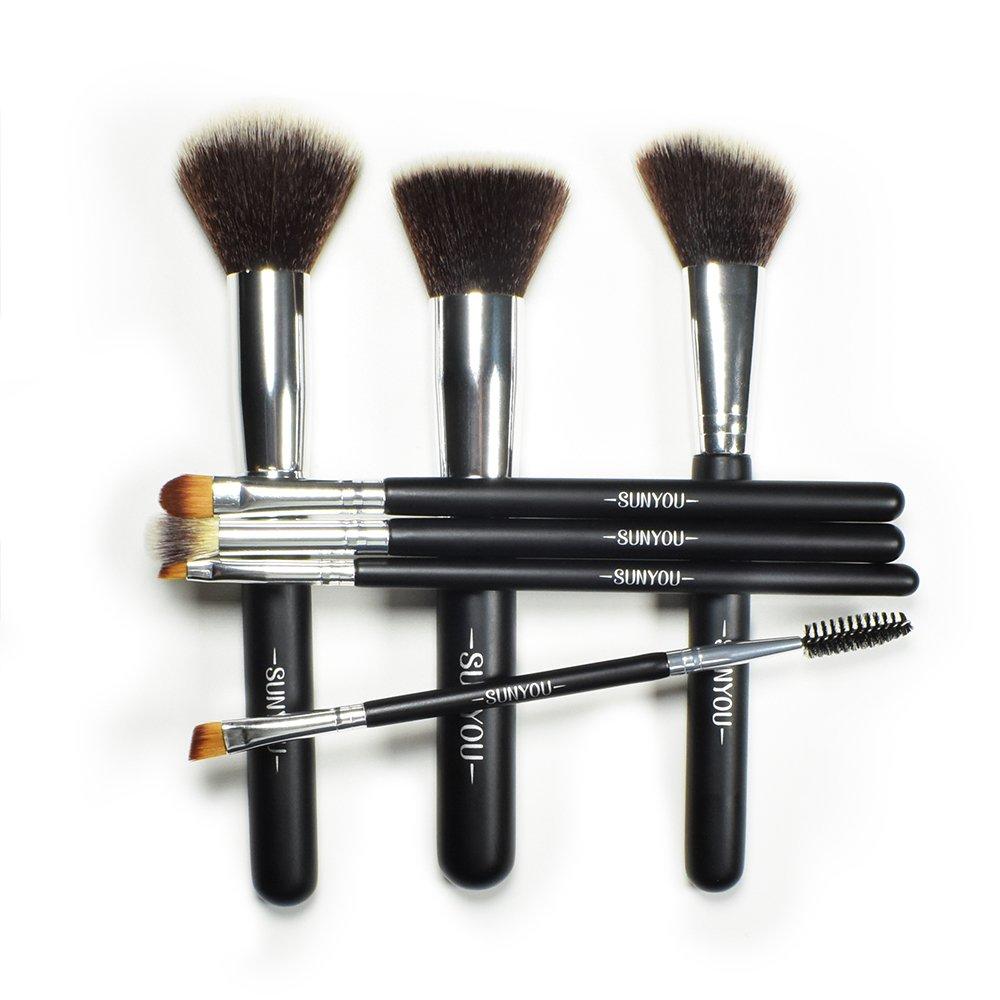 YINGGG Makeup Brush Set Premium Synthetic Foundation Brush Blending Face Powder Blush Concealers Eye Shadows Lip Beauty Collection Cosmetic Brushes Kit(7pcs)