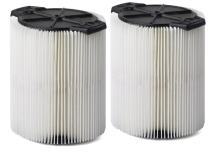 Multi-Fit Wet Dry Vac Filters VF7816TP Standard Wet Dry Vacuum Filters (2-Pack - Shop Vacuum Cleaner Filters) Replaces Red-Stripe Filter For Select Craftsman Shop Vacuum Cleaners 5-Gallon And Larger