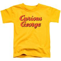 Popfunk Curious George Logo Toddler T Shirt & Stickers