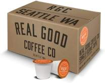 Real Good Coffee Co Breakfast Blend Light Roast Recyclable Coffee Pods, K-Cup Compatible including Keurig 2.0 Brewers, 72 Count