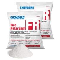 CHEMSORB FR - Flammable Liquid Retardant Absorbent, 1 Gallon Bag, (2) Pack