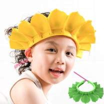 Baby Shower Cap, Baby Silicone Shampoo Shower Bathing Cap, Adjustable Shower Cap & Visor Hat, Safe Shampoo Shower Bathing Protection Bath Cap, for Toddler, Baby, Kids, Children (Yellow+Green)