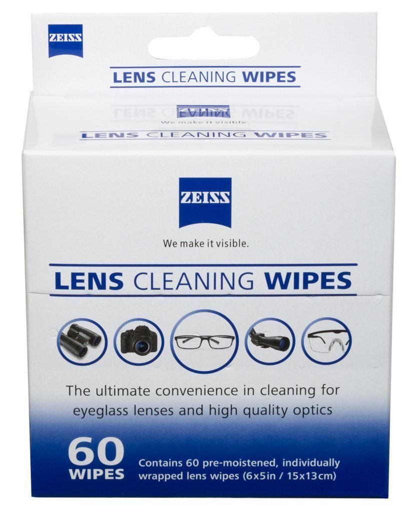 Pre-Moistened Lens Cleaning Wipes 6 x 5-Inches, 5 Pack (60 count)