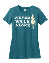 Dog is Good Women's Never Walk Alone Shirt - Great Gift for Dog Lovers
