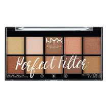 NYX PROFESSIONAL MAKEUP Perfect Filter Shadow Palette, Eyeshadow Palette, Golden Hour