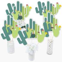 Big Dot of Happiness Prickly Cactus Party - Fiesta Party Centerpiece Sticks - Table Toppers - Set of 15