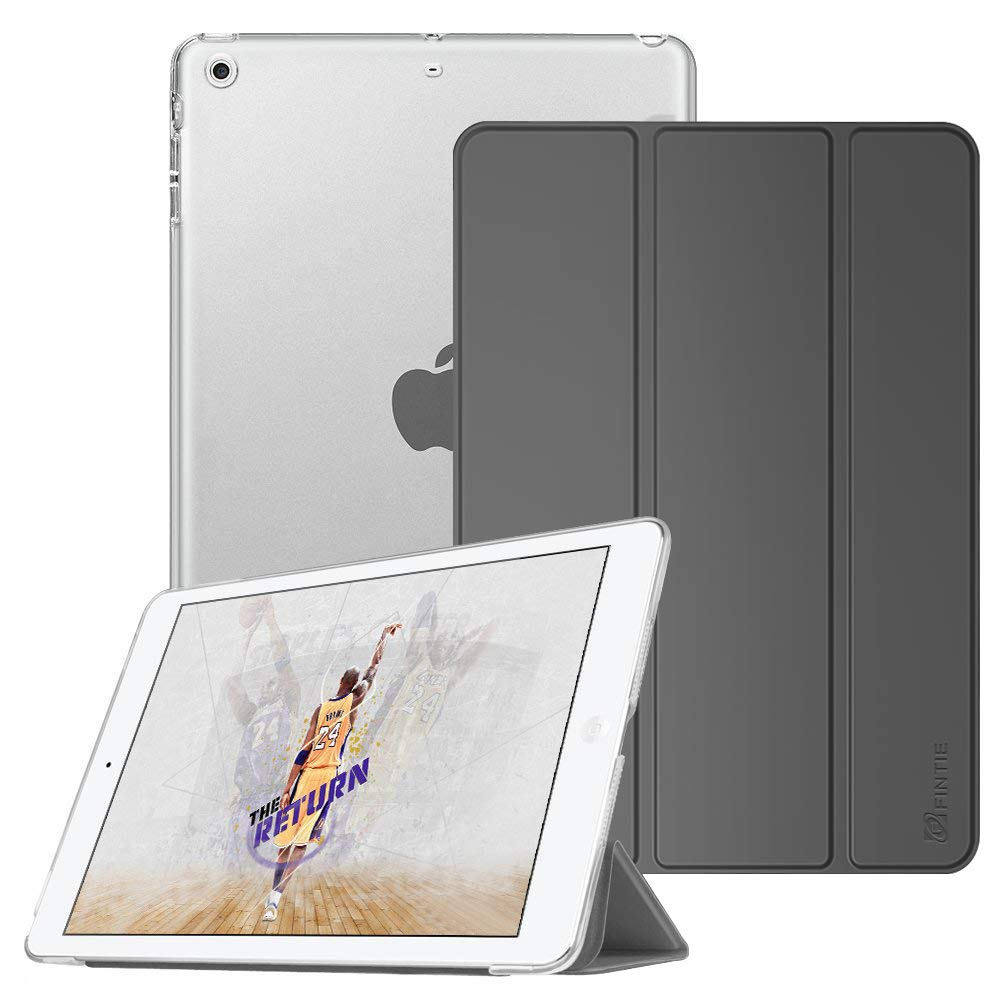 Fintie Case for iPad Mini 3/2 / 1 - Lightweight Smart Slim Shell Translucent Frosted Back Cover Protector Supports Auto Wake/Sleep for Apple iPad Mini 1 / Mini 2 / Mini 3, Space Grey