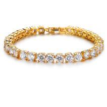 ASHMITA Tennis Crystal Bracelet for Women Charm Men Rose Gold Zirconia Bracelets Gift Jewelry