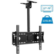 """Everstone Ceiling TV Mount for 37 to 70"""" Adjustable Tilting Full Motion Bracket Fit Most Plasma LED LCD TVs Flat Panel and Curved Displays,Up to VESA 600x400and 135 lbs,HDMI Cable"""