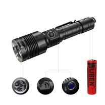 WUBEN 1280 High Lumens Tactical Flashlight Type-C Fast Charging Multi-function 5 Modes CREE XHP35 LED IPX8 Waterproof Torch with 18650 Battery