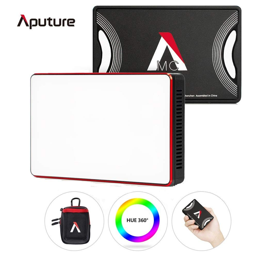 Aputure Amaran MC RGBWW Mini On Camera Video Light,Al-M9 Upgrade Version,3200K-6500K,CRI/TLCI 96+,HSI Mode,Support Magnetic Attraction and App with USB-C PD and Wireless Charging