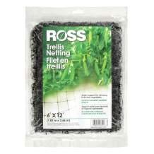 Ross Trellis Netting (Support for Climbing, Fruits, Vegetables and Flowers) Black Garden Netting, 12 feet x 6 feet