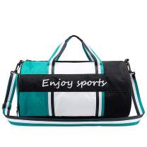 SHIPE Sports Gym Bag for Women - Durable Waterproof Travel Duffle Bag with Shoes Compartment & Wet Pocket