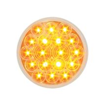 "Grand General 76451 Amber 4"" Round Fleet 18-LED Park/Turn/Clearance Sealed Light with Clear Lens"
