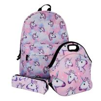 Unicorn School Backpack/Lunch bag/Pencil Case 3pcs/Set Gifts for Girls Kids' Backpack