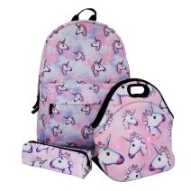 Unicorn School Backpack/Lunch bag/Pencil Case 3pcs/Set Gifts for Girls Kids' Backpack