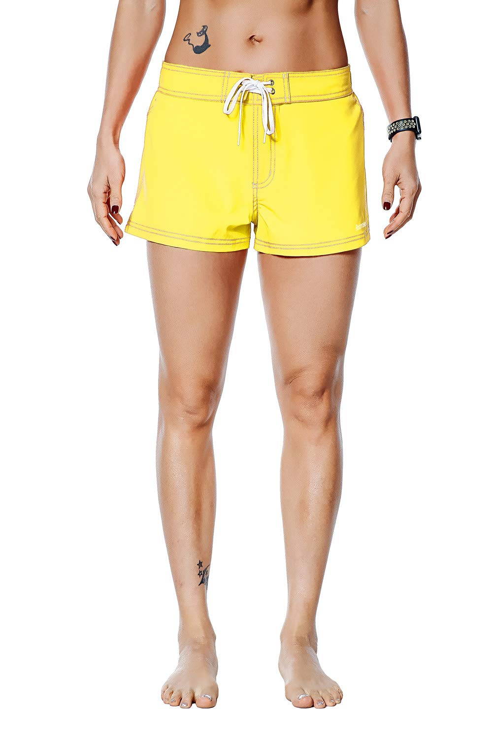 Rocorose Women's Boardshorts Water Sports Quick Dry with Back Pocket