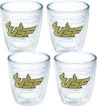 Tervis 1007936 USF Bulls Logo Tumbler with Emblem 4 Pack 12oz, Clear