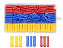 WMYCONGCONG 400 PCS Butt Splice Crimp Connectors Insulated Electrical Straight Wire Terminal Connectors Electrical Crimp Connector Assortment Kit 10-22AWG