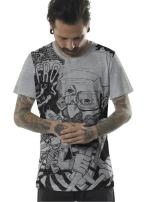 Mens Graphic T-Shirt Afro Space Art Print Urban Skate Boarder Top