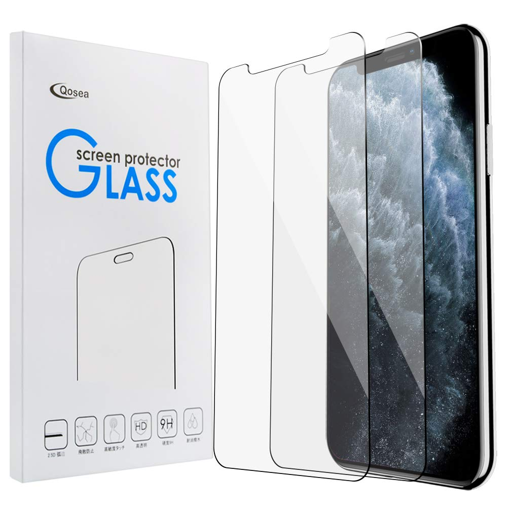 Qoosea for iPhone 11 Pro 5.8 Screen Protector [2 Pack] Ultra-Thin 2.5D 9H Anti Scratch Hardness Crystal HD Clear Scratch Resistant Tempered Glass Film for iPhone 11 Pro 5.8