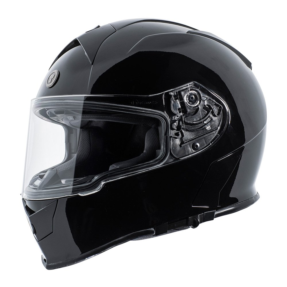 TORC Men's Full Face helmet (Gloss Black, Small)