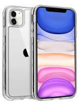 WESADN Case for iPhone 11 Case Clear Crystal Protective Cases for Women Men Shockproof Heavy Duty Rugged Hybrid Drop Proof Soft TPU Bumper Hard PC Cover for iPhone 11 6.1,Thin Armor Clear