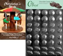 Cybrtrayd Bk-N033 Tiny Shell Assortment Nautical Chocolate Candy Chocolatier's Gu Plastic Mold, 8.5 X 11, Clear