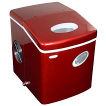 NewAir Portable Ice Maker 28 lb. Daily, Countertop Compact Design, 3 Size Bullet Shaped Ice, AI-100R, Red