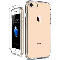 GiiKa iPhone SE 2020 Case, iPhone 8 Case, iPhone 7 Case with Screen Protector, Clear Protective Case Girls Women Shockproof Hard PC Case with Slim TPU Bumper Cover Phone Case for iPhone 8 iPhone 7
