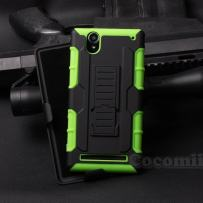 Cocomii Robot Belt Clip Holster Sony Xperia T2 Ultra Case, Slim Thin Matte Kickstand Swivel Belt Clip Holster Reinforced Drop Protection Fashion Bumper Cover for Sony Xperia T2 Ultra (Green)