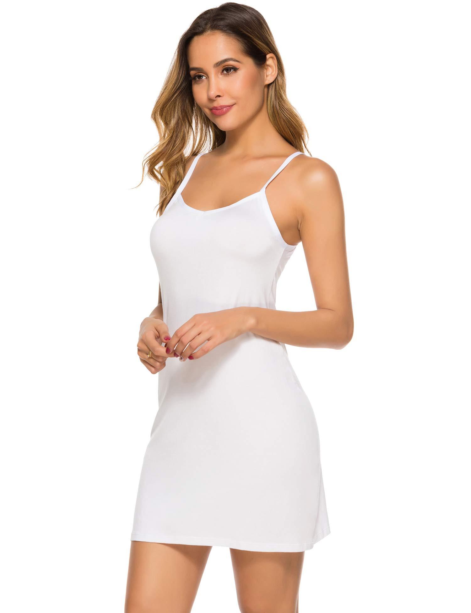 Popbee Women's Basic Slip Dress Adjustable Spaghetti Strap Cami Mini Dress