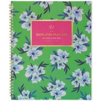 """Simplified 2019-2020 Academic Year Weekly & Monthly Planner, Large, 8-1/2"""" x 11"""", Green Floral (EL203-905A)"""