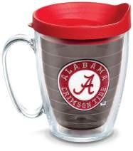 Tervis 1084221 Alabama Crimson Tide Tumbler with Emblem and Red Lid 16oz Mug, Quartz