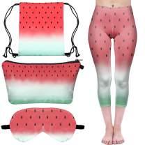 Babalet Watermelon Gifts for Girls - Watermelon Drawstring Bag/Makeup Bag/Eye Mask/Short Vest/Stockings/Sock/Leggings/Seven-point Leggings,Group2(4pcs)