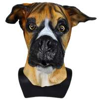 Deluxe Halloween Costume Party Latex Super Bowl Underdog Dog Head Mask