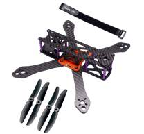Readytosky 220mm FPV Racing Drone Frame for Martian II Carbon Fiber Quadcopter Frame Kit 4mm Arms with 5030 Propellers+ Lipo Battery Strap