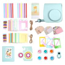 Artman 14-in-1 Instax Mini 9 Accessories Bundle Kit for Fujifilm Instax Mini 9/8/8+ Include Camera Case/Album/Selfie Lens/Filters/Table Frames/Wall Hanging Frame/Stickers/Film Calendar(Ice Blue)