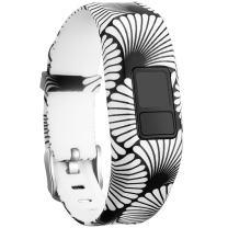 SKYLET Compatible with Garmin Vivofit JR Bands/Vivofit 3/ JR.2 Bands, Silicone Replacement Bands Compatible with Garmin Vivofit 3 Vivofit JR.2 with Secure Buckle Kids Women Men Large Small