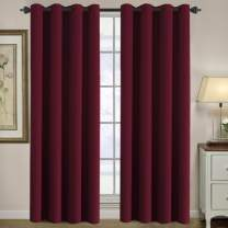 H.VERSAILTEX Blackout Thermal Insulated Room Darkening Winow Treatment Extra Long Curtains/Drapes,Grommet Panels (Set of 2,52 by 108 - Inch,Burgundy)