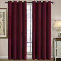 H.VERSAILTEX Ultra Sleep Well Microfiber Blackout Thermal Insulated Grommet 2 Panels,Energy Efficient Window Curtains/Drapes (Set of 2, Burgundy, 52 x 96 Inch)