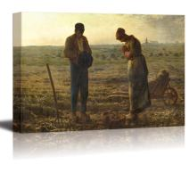 """wall26 - The Angelus by Jean-Francois Millet - Canvas Print Wall Art Famous Painting Reproduction - 12"""" x 18"""""""