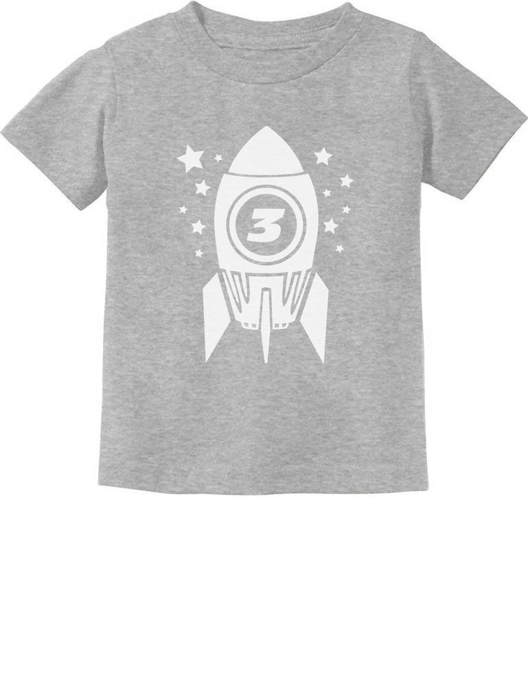 Gift for Three Year Old 3rd Birthday Space Rocket Toddler/Infant Kids T-Shirt