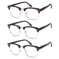 Gamma Ray Reading Glasses - 3 Pairs Classic Readers for Men and Women