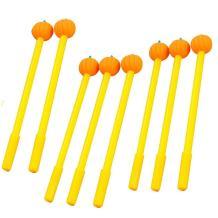 WIN-MARKET Gel Pens Set Fashion Cute Lollipop Colorful Kawaii Lovely Cartoon Novelty Creative Pumpkin Gel Ink Rollerball Pens Ball Pens Office School Supply Stationery(8PCS)